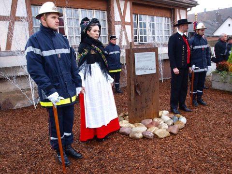 Stèle du souvenir de l'évacuation de Gambsheim